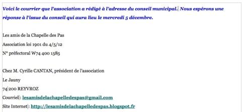 2012 12 03 courrier Chapelle des Pas jpg