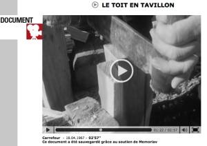 Vidéo sur la fabrication des tavaillons en Valais