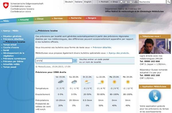 2013 04 19 météo suisse
